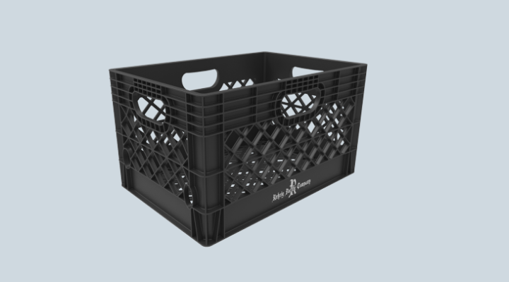 24 Qt. Dairy Crate - All Plastic