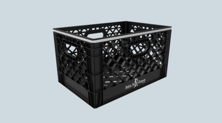 24 Qt. Dairy Crate - Steel Reinforcement Ring
