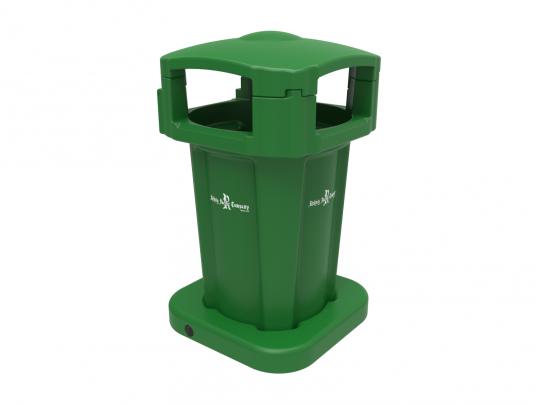 60 Gallon Public Litter Container