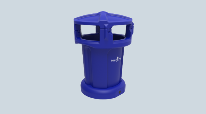 75 Gallon Public Litter Container